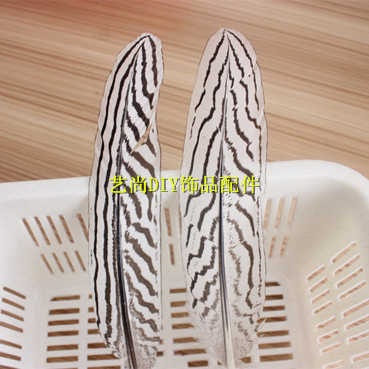 Top Quality DIY Print Black Wave Coloured Feather Length About 17-25cm Cosplay And Wedding Decoration(China (Mainland))