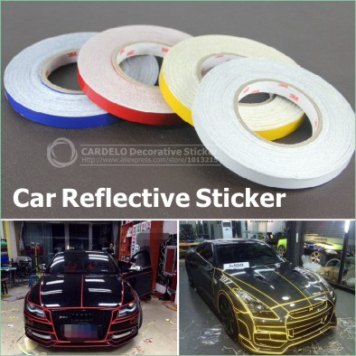 46M Car Styling Reflective Strip Motorcycle Car Be Light Garland Luminous Stickers Body Decoration Full Reflectors Wholesale(China (Mainland))
