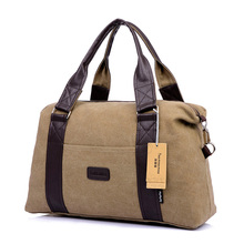 Vintage Big Capcity Canvas Leather men travel bags Carry on Luggage bags Women Duffel bags tote large weekend Bag Feminina(China (Mainland))