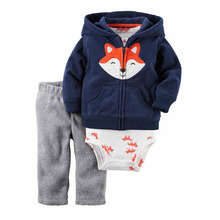 2016 CARTER bebes boy clothes baby girl clothes 3 piece of set ,baby clothing set bebes winter new style snowsuit abrigos roupas(China (Mainland))
