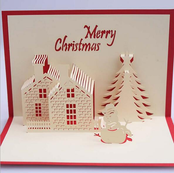 3d Luxury Handmade Christmas Greeting Cards 3d Stereo