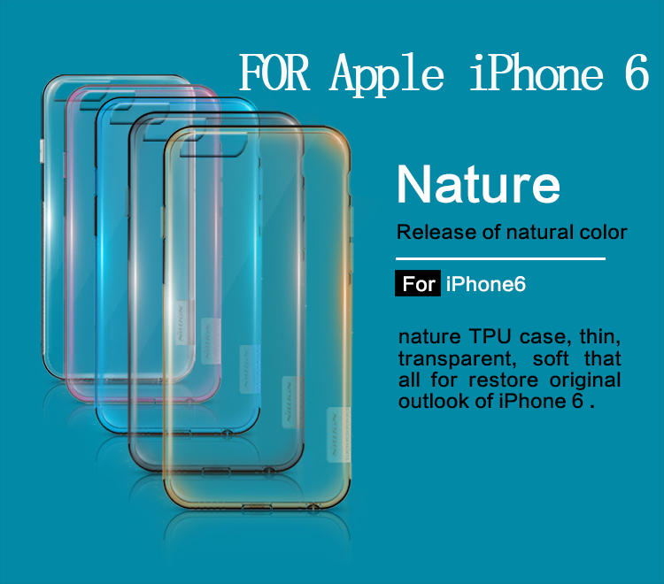1 NILLKIN Ultra Thin Transparent Nature TPU Case Apple iPhone 6 4.7 inch 0.3mm S Line Clear Hard Soft Back - Foison Group1 Store store