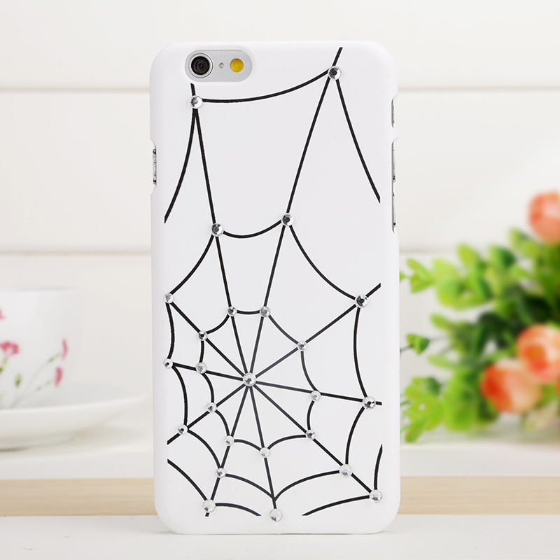 2016 New fashion luxury ultra slim Case for apple iphone 6 6s 6Plus 6s Plus frosted hard Spider web scrub diamante phone cases(China (Mainland))