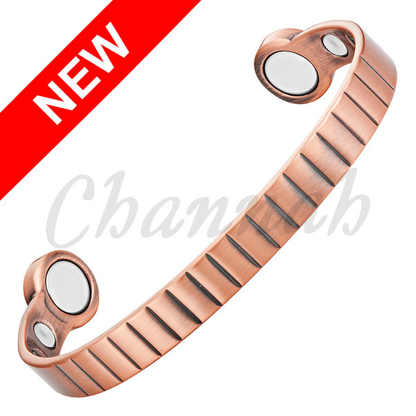 2016 Unisex Strong Big Magnets Copper Mangetic Power Bangle Antique Copper Trendy Jewelry Bracelet Free Shipping Hong Kong Post(China (Mainland))