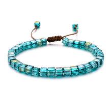 ZMZY moda koralik z kryształkami Charm bransoletka Coloful Cristal regulowane bransoletki dla kobiet ozdobiona paciorkami artystyczna styl cienka biżuteria prezenty(China)