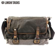 European and American retro washed canvas bag
