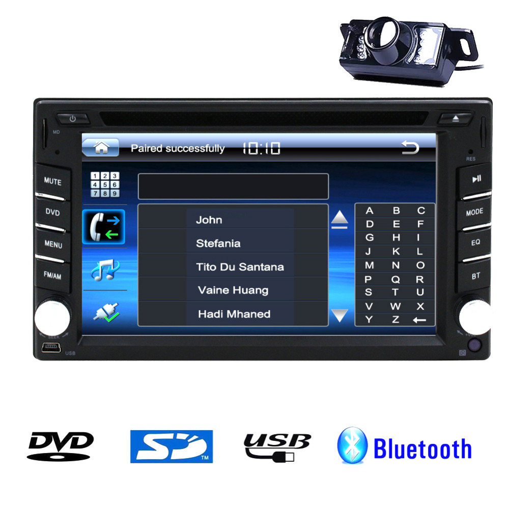 """2 Din 7"""" Car Stereo DVD Player BT Radio Bluetooth + Backup Camera In Dash Headunit Bluetooth with built-in Microphone No-TV GPS(China (Mainland))"""