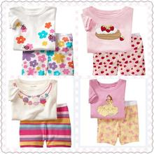 2 pcs set Hot Retail Baby & Kids Minnie Pajamas sets Boys Tiger Suit set Girls blouses+pants 2-piece sets 2-7T Free Shipping(China (Mainland))