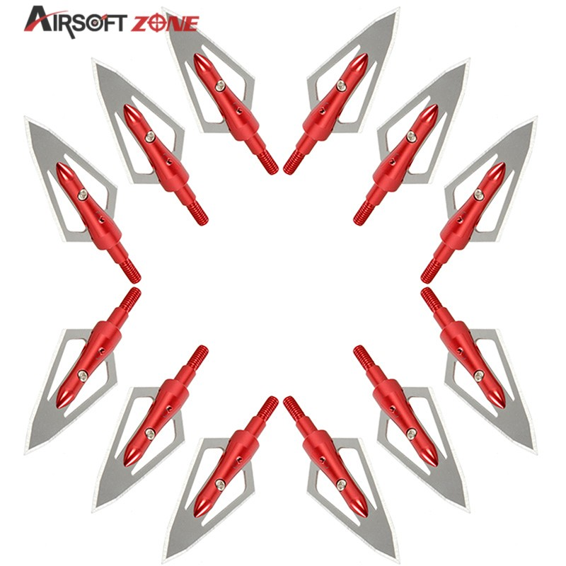 12PCS lot Red Replaceable Arrowhead Broadhead Flechas Carbono Recurve Bows Arrows Archery Arrows for Compound Recurve