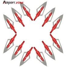 12PCS/lot Red Replaceable Arrowhead Broadhead,Flechas Carbono,Recurve Bows Arrows,Archery Arrows for Compound/Recurve Arrow Bow