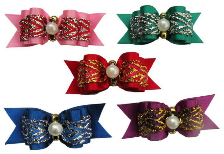 Wholesale Pet Supplies Product Handmade Dog Accessories Flower Bows Pearl Bows Party 50PCS/LOT(China (Mainland))