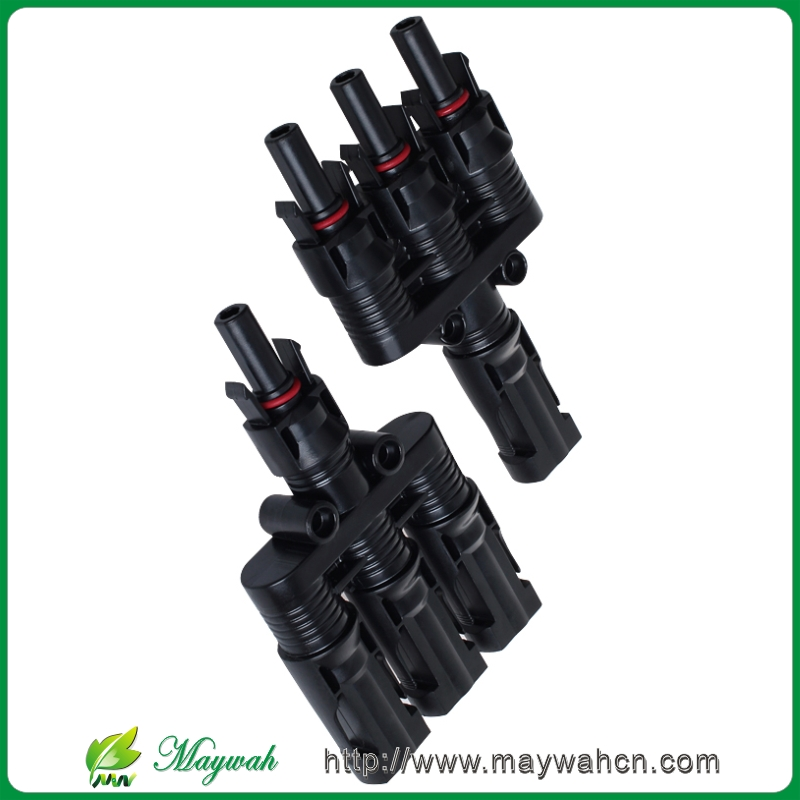 DECEN@ 1Pairs x MC4 3T Connector male and female, MC4 3 Branch Solar Panel Connector used for Solar module parallel connection<br><br>Aliexpress