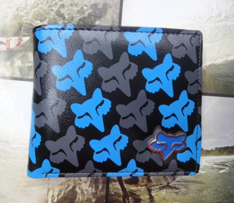 FoX Mens wallet PU Leather Surf Purse Bag The wallet card bag FX Mens wallet
