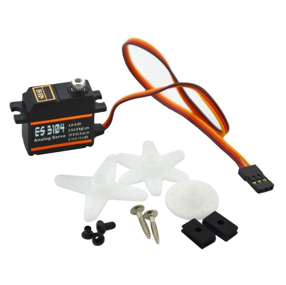 ES3104 Mini Metal Gear Analog Servo for RC Airplane Multicopter Quadcopter(China (Mainland))