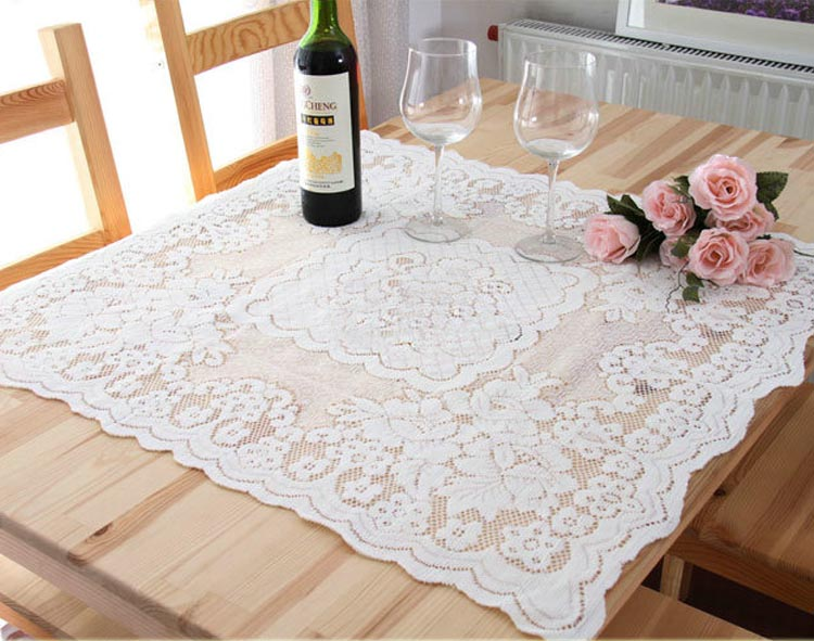 New Hot 2 Sizes <font><b>Elegant</b></font> Lace Tablecloths Beige Jacquard Europe Lace Table Cloth Towel Overlays <font><b>Home</b></font> <font><b>Decor</b></font> Textiles