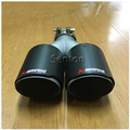 Multiple Sizes Twin Akrapovic Carbon Fiber Car Exhaust Tip Muffler Pipe For BMW Mercedes Nissan Jaguar