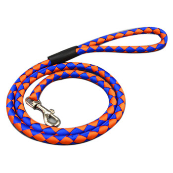 High quality Dog Pet Puppy Training Neck Leash Strong Nylon Reflective Rope Lead Leash Pet Braided Leash Durable Heavy Duty PG18(China (Mainland))
