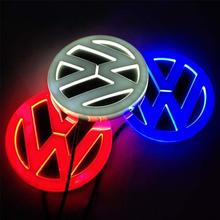 Newest LED Badge Logo Light White/Blue/Red 4D Front/Rear Emblem Light for VW Bora Car(China (Mainland))