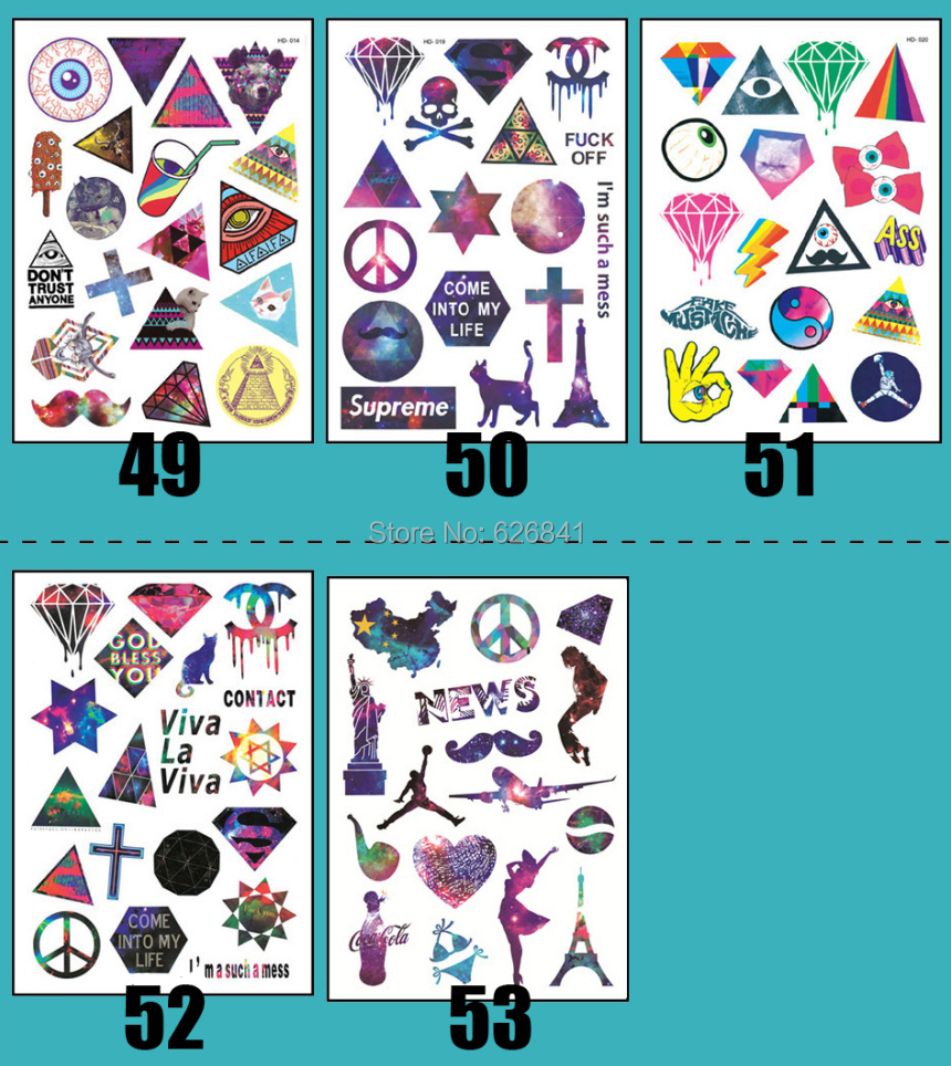 80pieces/lot 2015 New Fashion Star SKY Waterproof Laptop Skin Sticker Computer/luggage/bicycle/motorcycle/car Stickers - Miss CZ home decor store