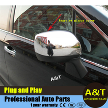 A&T car styling Chrome Body side door mirrors cover Trim 2013 2014 2015 Forester chrome stickers trim - Automotive & Technology Co.,Ltd store