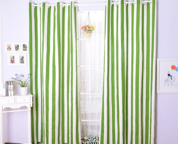 Green Striped Curtains Promotion Shop For Promotional Green Striped Curtains On