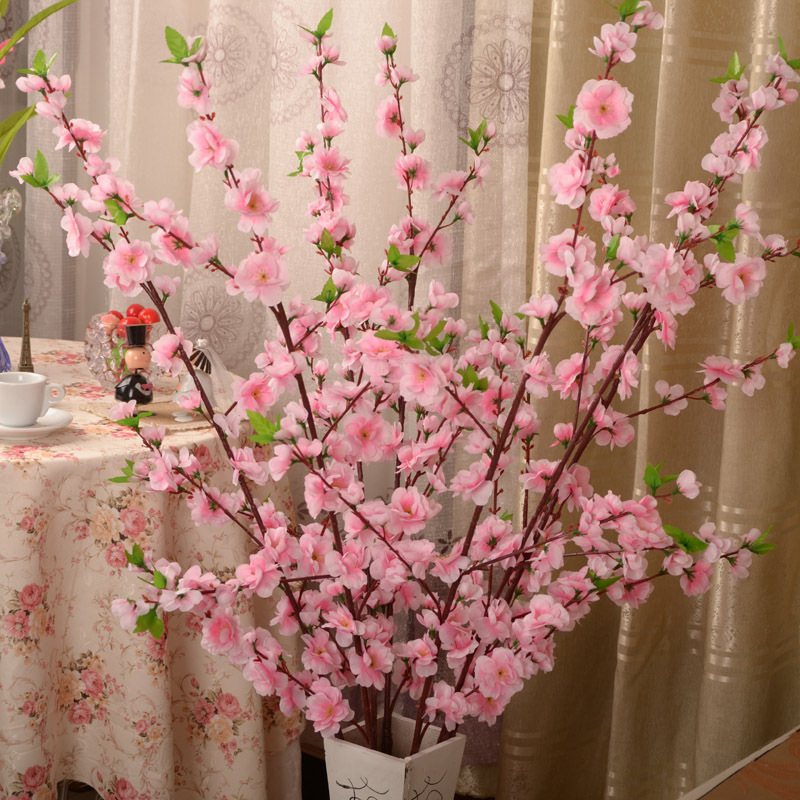 Simulation Of Flowers High Peach Branches Home Decoration Decoration Living Room Decorative Flower Flower Simulation Silk Flower(China (Mainland))