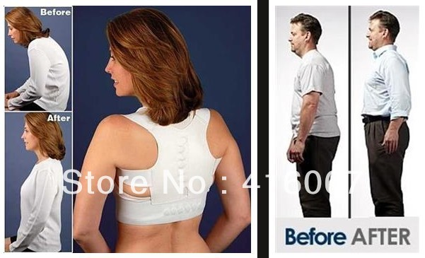 Magnetic Therapy Posture Orthopedic Shoulder Back Support Belt Brace Pain Relief for Men Women free shipping