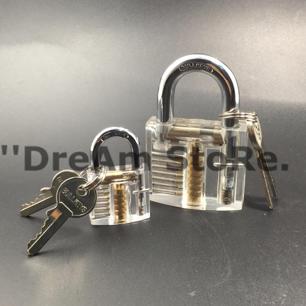 1Set Professional Cutaway Inside View of Practice Cadeado Padlocks Lock Pick Lock Training Trainer Pick for Locksmith Tools(China (Mainland))