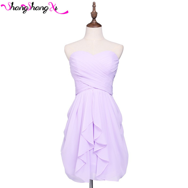 Lilac coral purple short bridesmaid dresses cheap for Lilac dress for wedding