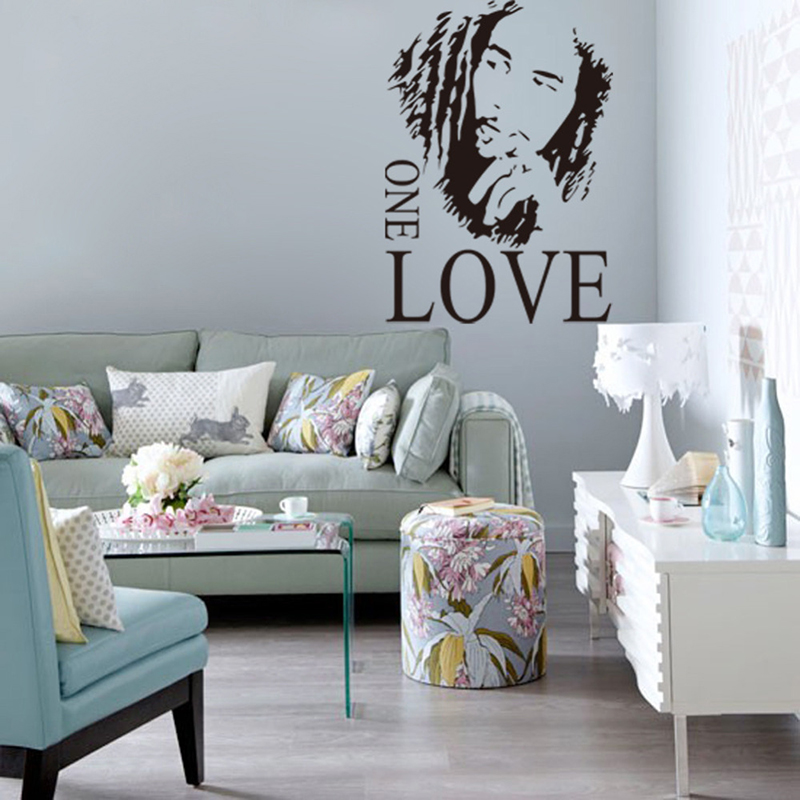 Bob marley one love wallstickers puzzle diy wall poster for Bob marley wall mural