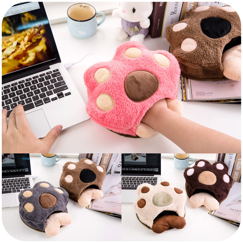 Cute paws warm in winter USB heated mouse pad with wrist, hand warmers heating pad P2619(China (Mainland))