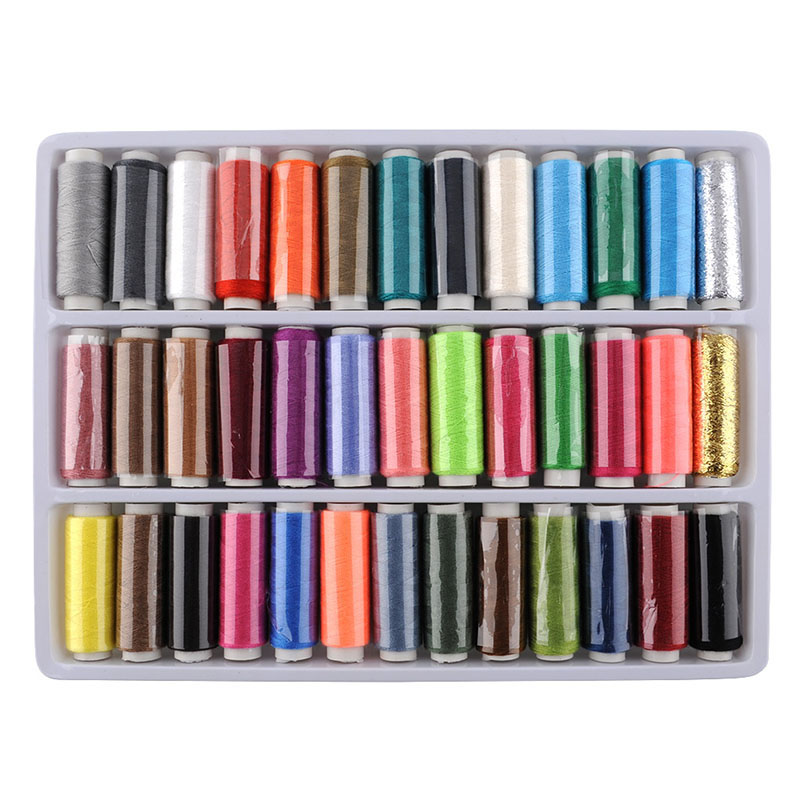 2017 Hot Sale High Quality 39pcs in One 39 Colors Polyester Excellent Sewing Thread Spools 100 Yard Multi Color Drop Shipping