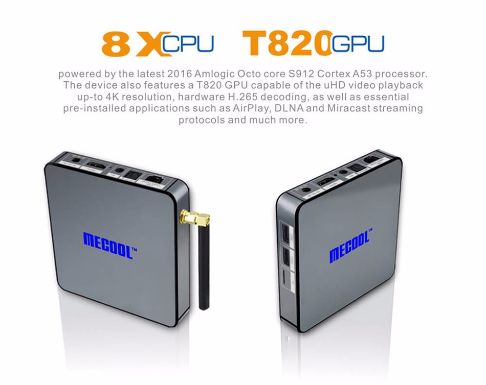 image for [In Stock!] MECOOL BB2 Android 6.0 Amlogic S912 KODI 17.0 TV BOX 2G/16