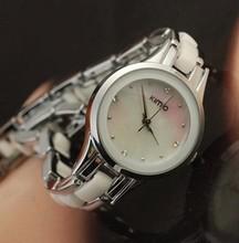 Kimio moda pulsera de mesa rhinestone mesa moda para mujer reloj sallei blanco