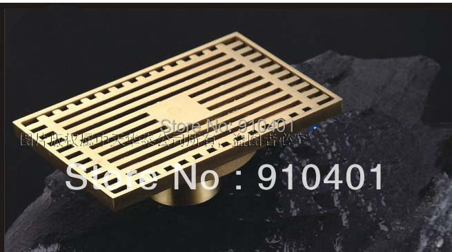 Free Shipping Wholesale And Retail Promotion NEW Modern Square Antique Brass Bathroom Shower Drain Washer Floor Waste Drain<br><br>Aliexpress