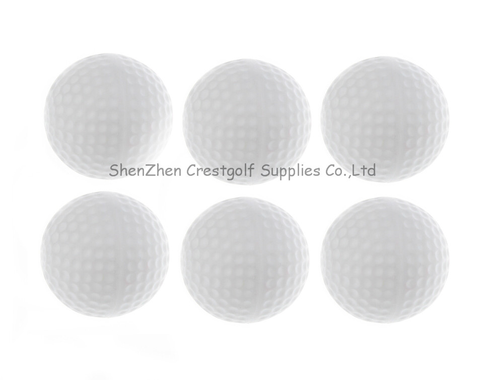 100pcs size 40mm plastic outdoor practice ball golf training ball hollow balls with only white color(China (Mainland))