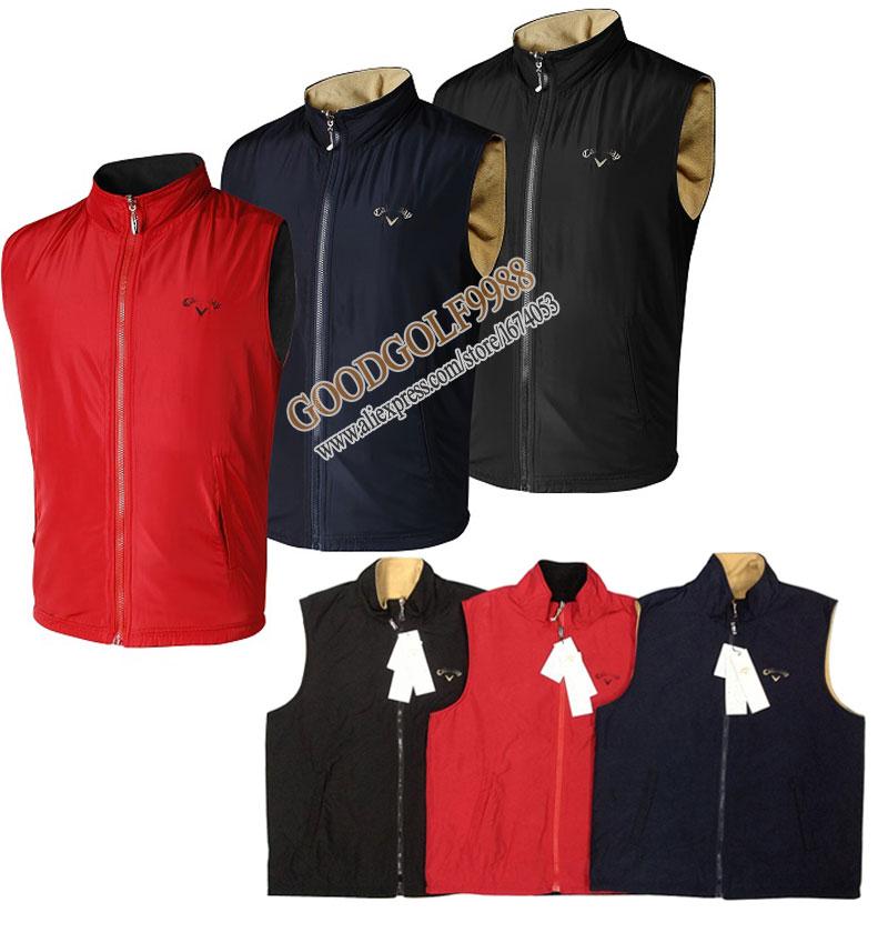 Здесь можно купить  New Golf waiscoat mens Sleeveless sports outwear Golf vest with velet 5color S-XXXL for autumn/spring Golf clothes Free Shipping  Спорт и развлечения