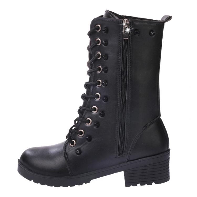 Boots ladies vintage rivet combat army punk goth ankle shoes biker