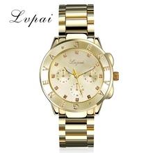 Buy Lvpai 2016 Luxury Geneva Brand Crystal Stainless Steel Simulation Wristwatch Dress Women Ladies Men Fashion Quartz Watch for $7.79 in AliExpress store