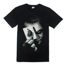 Batman The Dark Knight Joker Print Cotton T Shirt O-Neck Men Tee T-Shirt Cosplay Costume Shirts Plus Size Free Shipping