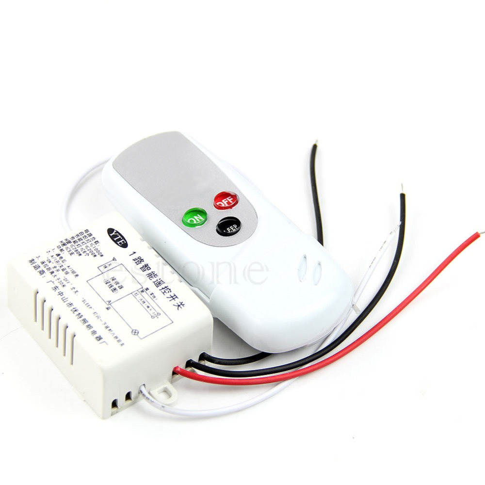Hot anti-interference 220V Wireless 1Way Light Lamp Remote ON/OFF Control Switch<br><br>Aliexpress