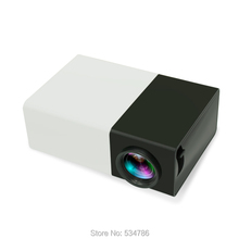 YG300 Black & White Regular or Battery Edition Home Portable Mini led Projector Home Theater Player(China (Mainland))