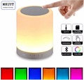 Portable Bluetooth Speaker Touch Control Bedside Lamp Color LED Outdoor Table Lamp MP3 Muisc Player Hands