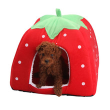 High Quality Strawberry Dog House Comfortable Warm Dog Kennel Waterproof Bottom Pet Products for Dog&Cat(China (Mainland))