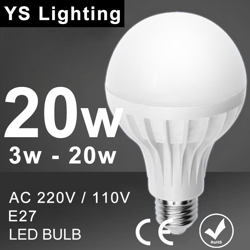 Lamp LED Bulb 3W 5W 7W 9W 12W 15W 18W 20W LED E27 110V 220V 240V Lampada Led Lamp Cold White Warm White LED light Bulb SMD 5730(China (Mainland))