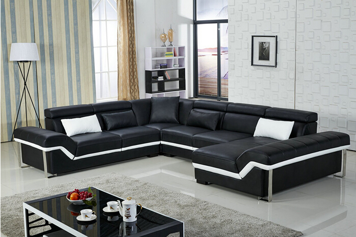 Lizz home furniture living room leather couches u shape for U shaped sofa in living room