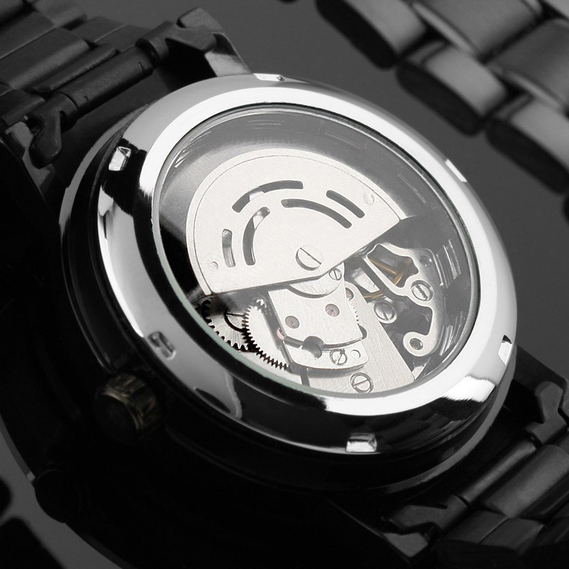 watch dual picture more detailed picture about new men limited new men limited edition winner brand watches men s fashion steampunk black stainless steel automatic mechanical wrist