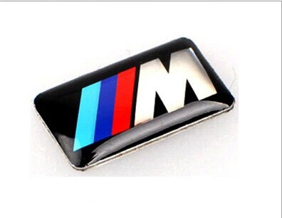 Car Glue Emblem Sticker for BMW Stickers Badge for BMW M 3 x5 6 series logo Icon Hub Steering wheel drive accessories Decoration(China (Mainland))