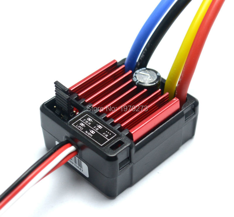 1pcs HobbyWing QuicRun 1:10 Brushed 60A Electronic Speed Controller ESC Waterproof 1060 RC Car(China (Mainland))