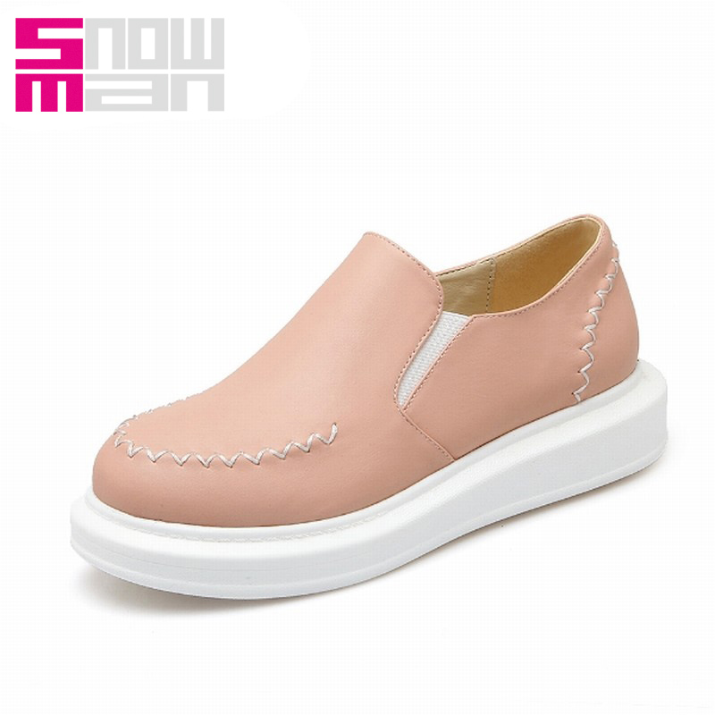 2016 New Arrival Women Flats Fashion Big Flat Sole Platform Shoes Elastic Band Slip on Shoes Casual Spring Shoes Woman